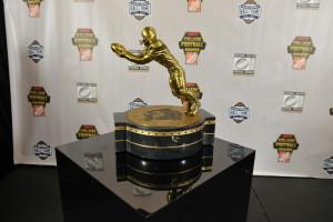 Atlanta, GA - December 10, 2015 - College Football Hall of Fame: Portrait of the Biletnikoff Award (Photo by Richard Ducree / ESPN Images