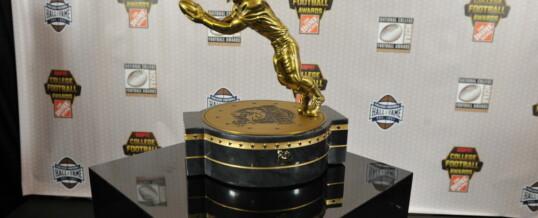 The Fred Biletnikoff Award Trophy